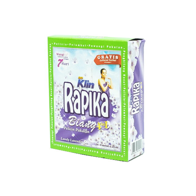 Rapika, Biang 3 in 1, Lovely Lavender, 25 ml X 4 sachets