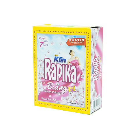 Rapika, Biang 3 in 1, Sweet Pink,  25 ml X 4 sachets