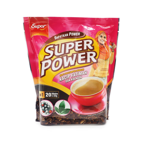 Super Power, Kopi Kacip Fatimah 5 in 1, 20 sachets X 22 g