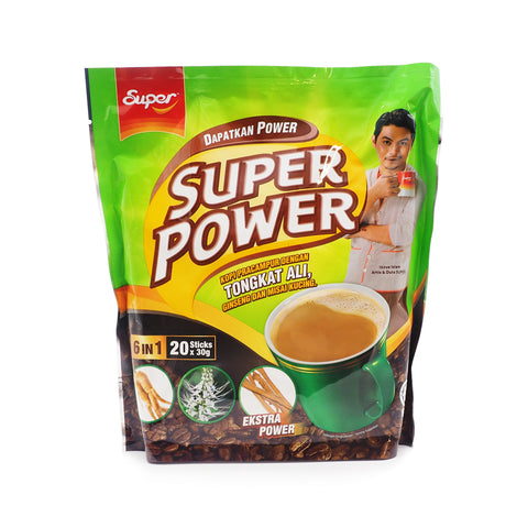 Super Power, Kopi Tongkat Ali 6 in 1, 20 sachets X 30 g