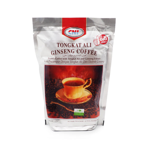 CNI, Tongkat Ali Ginseng Coffee, 20 sticks x 20 g (Silver)