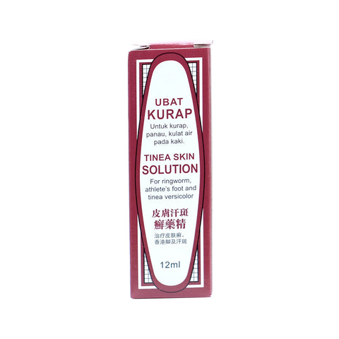 Three Legs, Ubat Kurap, Tinea Skin Solution, 12ml