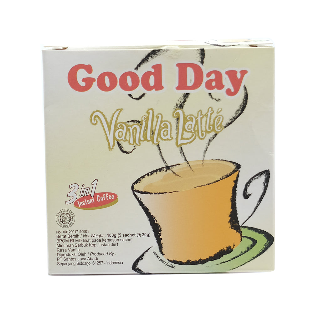 Good Day, Vanilla Latte 3 in 1 Coffee, 20 g X 5 sachets