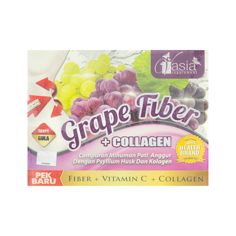 V'Asia, Grape Fiber + Collage, 10 sachets X 15 gm