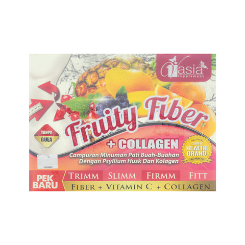 V'Asia, Fruity Fiber + Collagen, 10 sachets X 15 gm