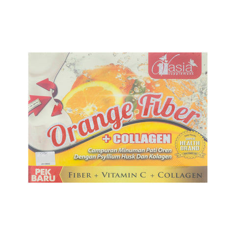 V'Asia, Orange Fiber + Collagen, 10 sachets X 15 gm