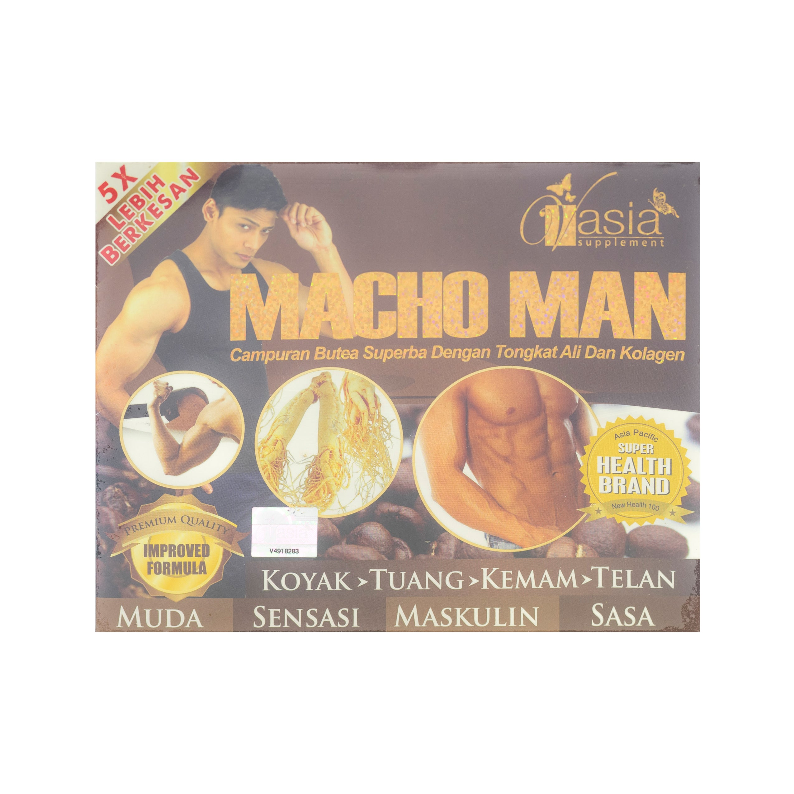 V'Asia, Macho Man, 10 sachet X 4 gm