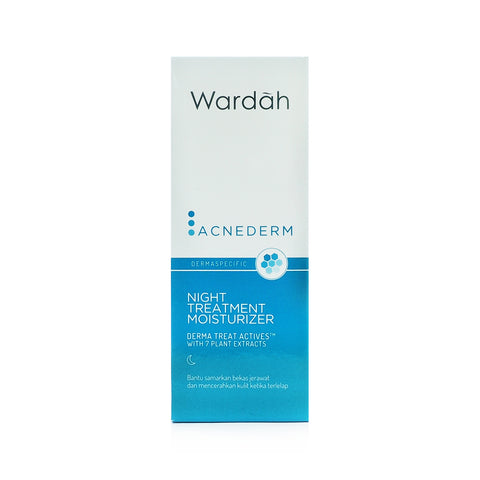 Wardah, Acnederm, Night Treatment Moisturizer, 40 ml