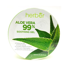 Herber, Aloe Vera 99% Soothing Gel, 300 ml