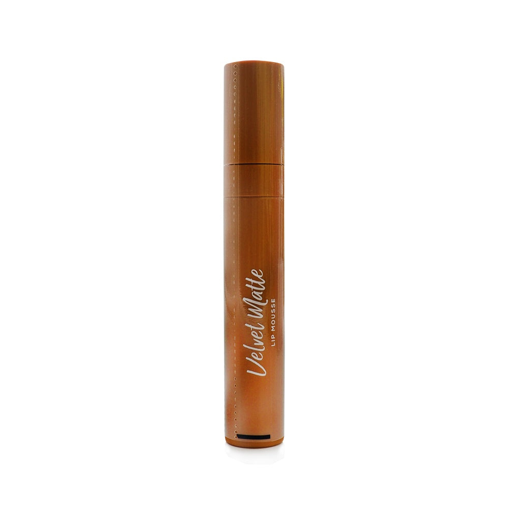 Wardah, Velvet Matte Lip Mousse, 08 Brown Creator, 4 g