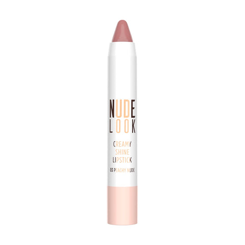 Golden Rose, Nude Look Creamy Shine Lipstick No. 03 Peachy Nude, 3.5g