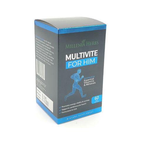 Millenia Herbs, Multivite For Him, 60 capsules