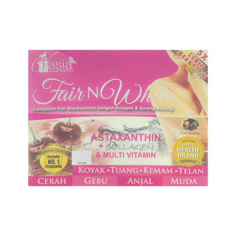 V'Asia, Fair N White, 10 sachets X 3 gm