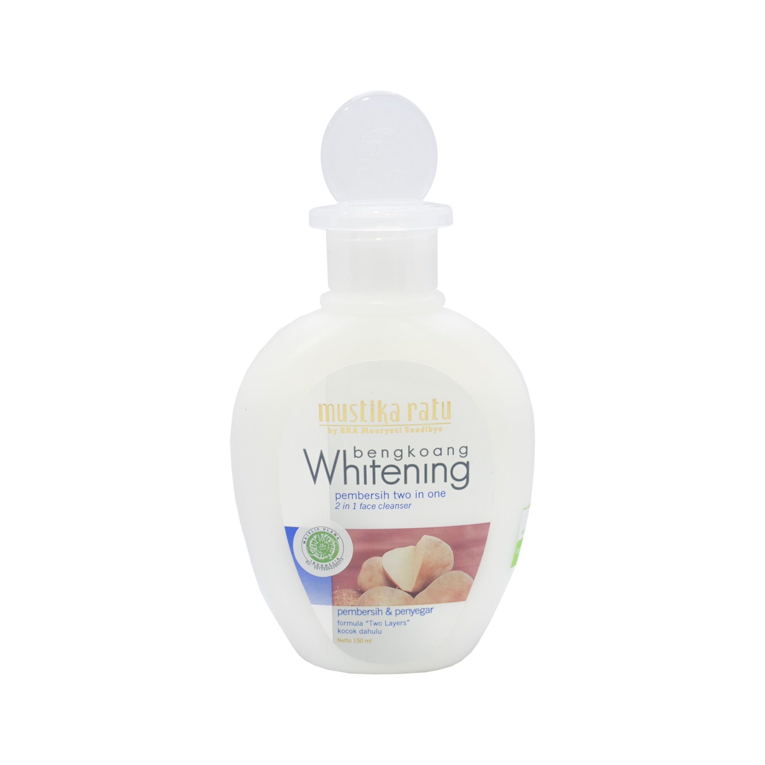 Mustika Ratu, Bengkoang Whitening, 2 in 1, 150 ml