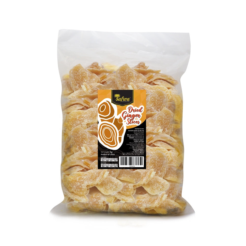 Safwa, Dried Sugared Ginger, Slices, 1 kg (10/ctn)