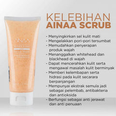NSA Beau, Ainaa Scrub Mask, Honey & Oat, 100 ml