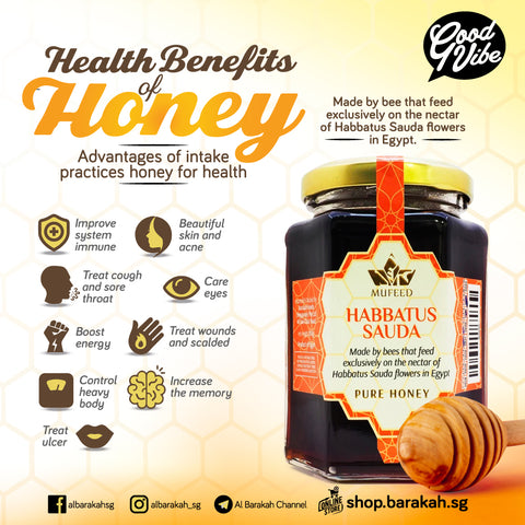 Mufeed, Pure Honey, Habbatus Sauda, 350 g