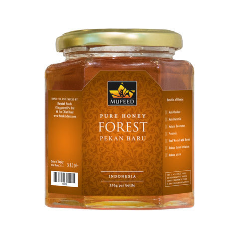 Mufeed, Pure Honey, Pekan Baru Indonesia, 350 g