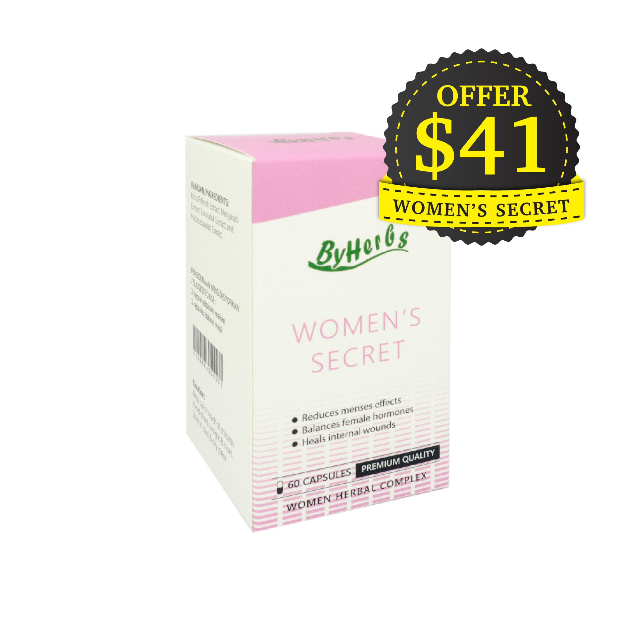 ByHerbs, Women's Secret, 350mg X 60 capsules