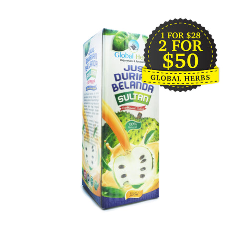Global Herbs, Jus Durian Belanda Sultan, 350 ml