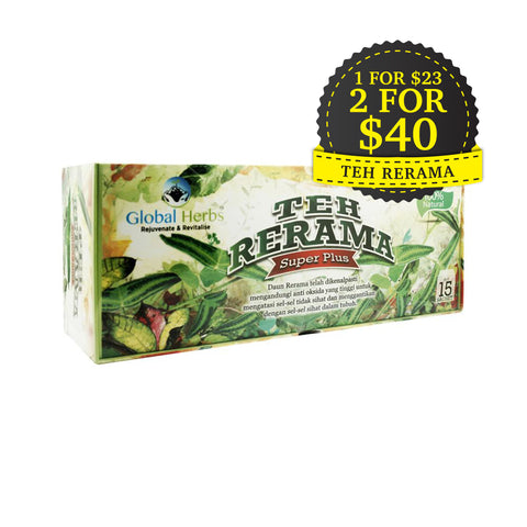 Global Herbs, Teh Rerama Super Plus, 15 sachets X 2 g