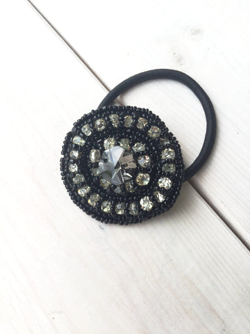 Bead Stitched Hair Tie