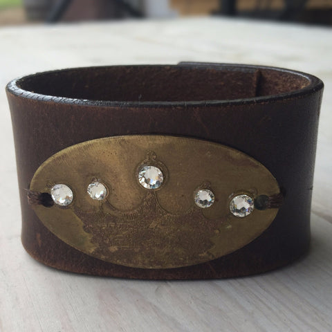 Crown w/ Jewels Cuff