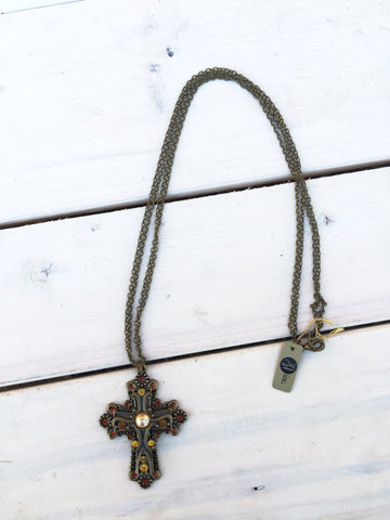 Bronze Cross Necklace