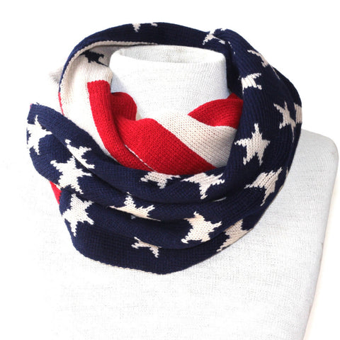 Vintage American Flag Scarf - Cold Weather
