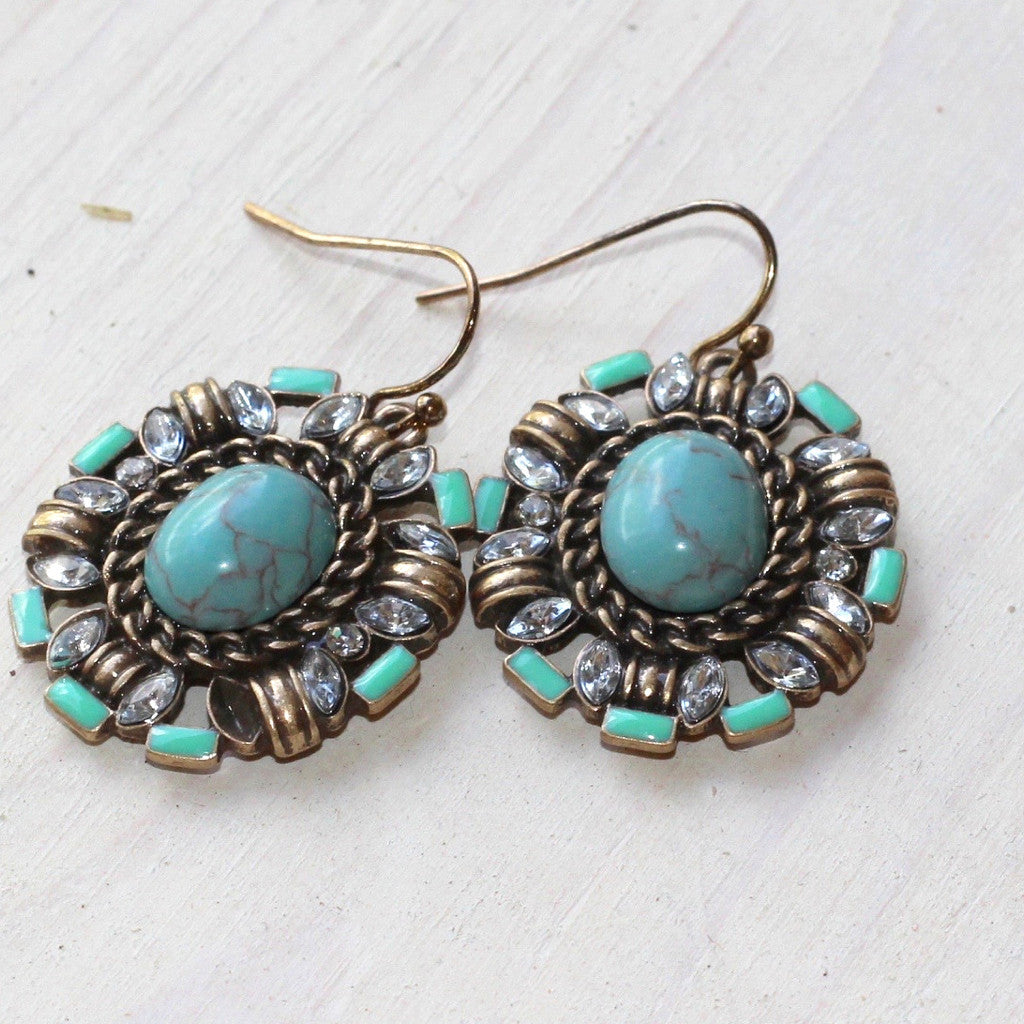 Ornate Mixed Earrings - Turquoise