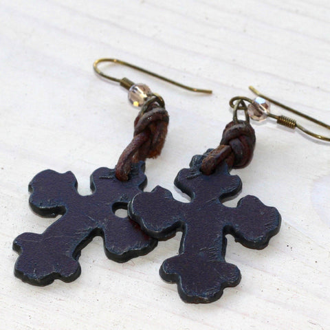 Cut Cross Earrings