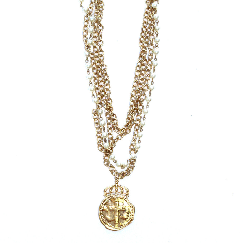 Crowned Cross Necklace
