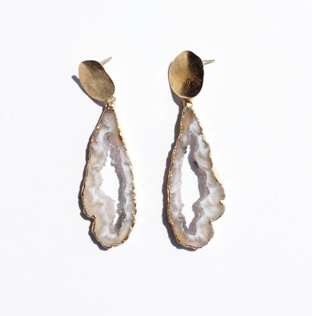 Dangle Geode Earrings