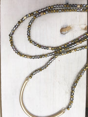 Small beads, Long Necklace