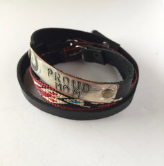 Proud Mom Wrap Bracelet