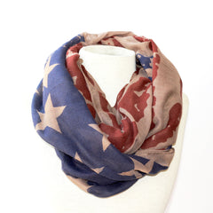 Antiqued Flag Scarf - Infinity