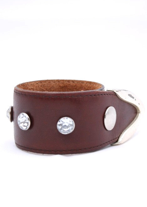 Brown Crystal Studded Cuff
