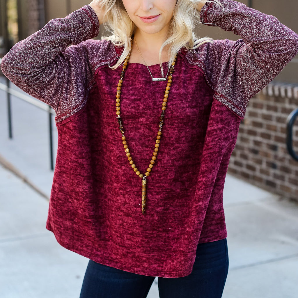 Cozy Burgundy Top