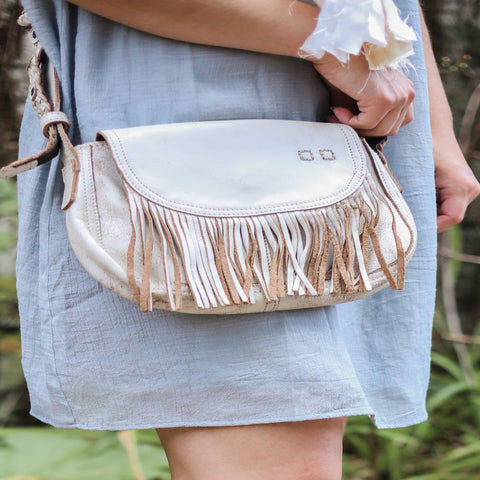 Genuine Leather, Cross-body Fringe Purse