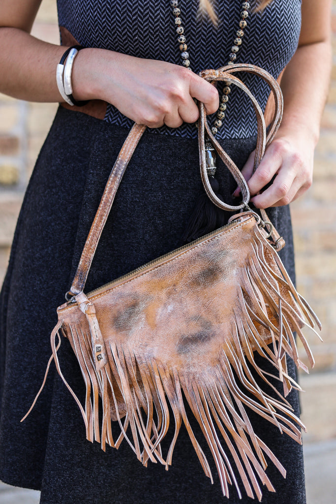 Genuine Leather, Fringe Purse