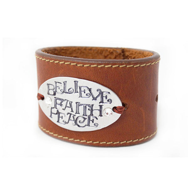Believe Faith Peace Cuff