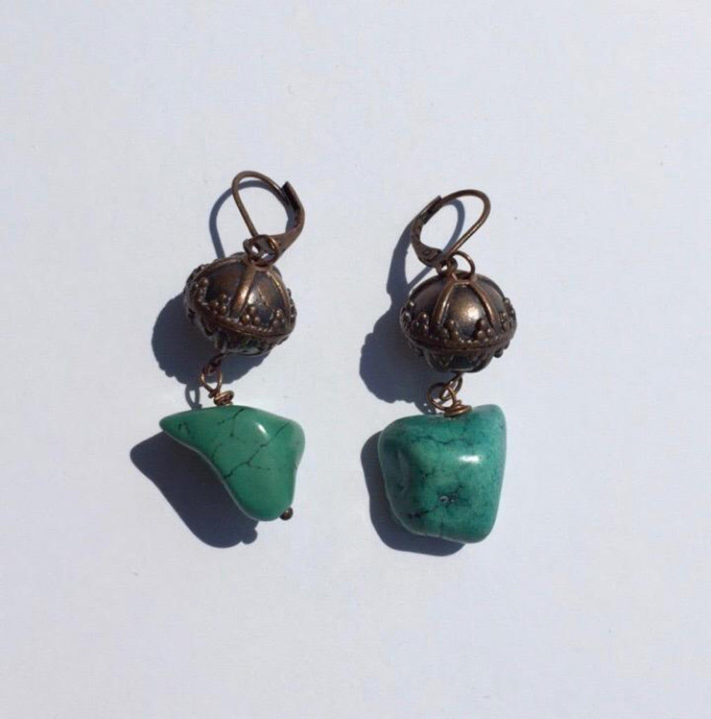 Dangle Earrings w/ Turquoise