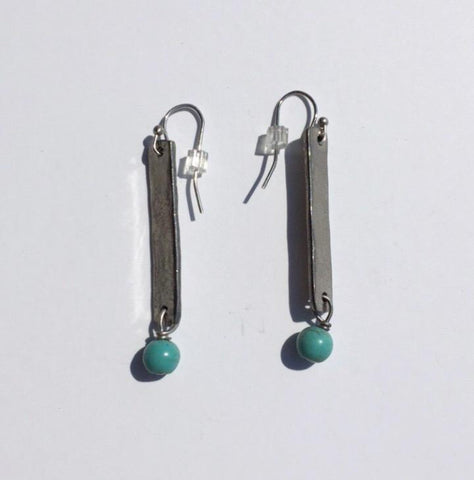 Single Drop Earrings - Turquoise