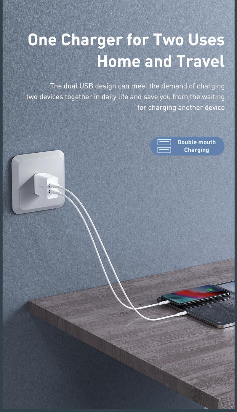 Baseus Speed Mini Dual USB Charger