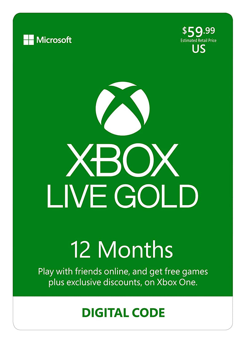Xbox Live Gold 12 Months - Shamy Stores