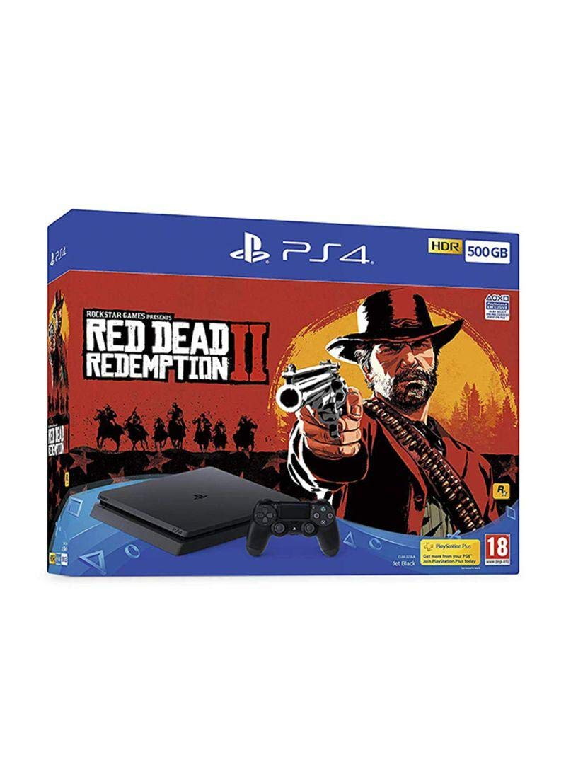 Shamy Stores PlayStation 4 (PS4) Slim 500G Red Dead Redemption 2 Bundle PS4 Console Sony Sony egypt