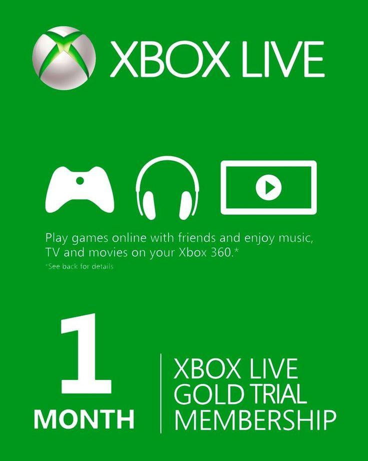 XBOX Live Gold 1 Month Trial Digital Code