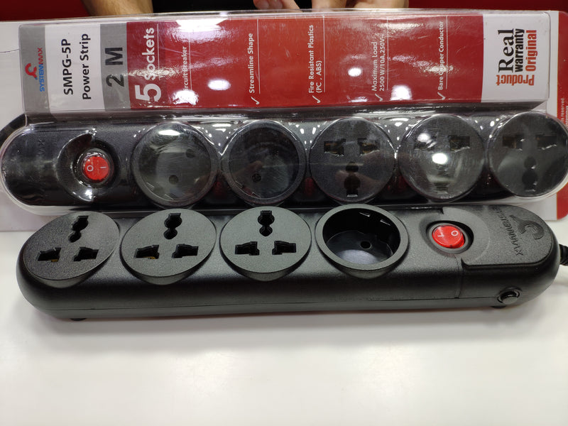 SYSTEMMAX POWER STRIP 4 SOCKETS