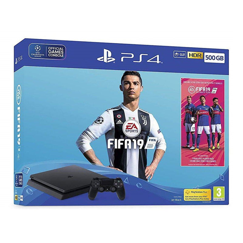 Shamy Stores PlayStation 4 (PS4) Slim 500G FIFA 19 Bundle PS4 Console Sony Sony egypt