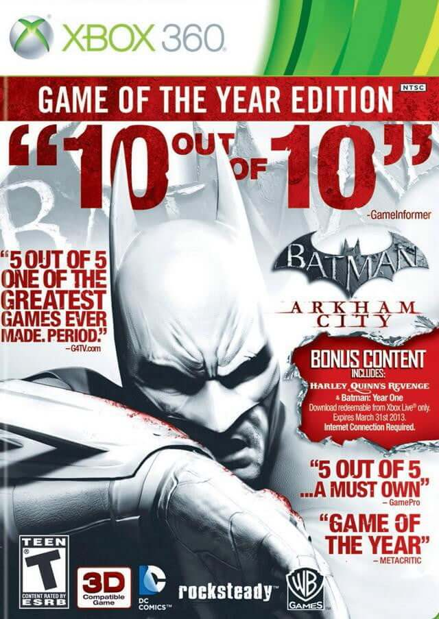 BATMAN GAME OF THE YEAR EDITION (XBOX 360) XBOX 360 Game - Shamy Stores